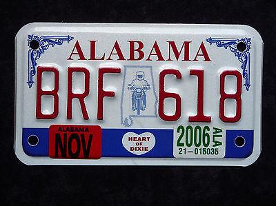 ALABAMA - HEART OF DIXIE - USA Motorrad Kennzeichen - Original - Top! BRF618