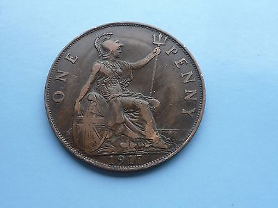 1917 Penny, George V. Great Condition.