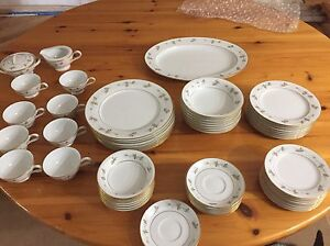zylstra autumn gold fine china dining set - 59 pieces total.