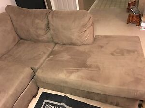 L shape couch and rocking chair for sale