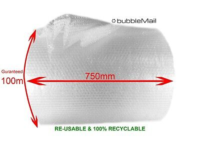 Small Bubble Wrap Packaging Roll - Storage - Removals - Size - 750mm x 100m