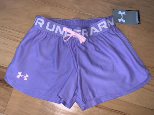 NWT UNDER ARMOUR GIRLS PURPLE ATHLETIC SHORTS SIZE SMALL LD 5