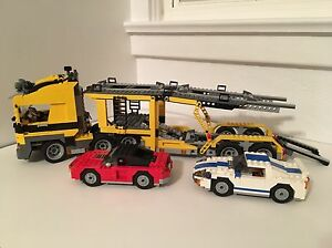 Large Lego truck and cars