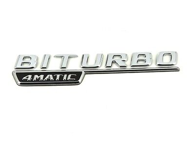 Original Mercedes Biturbo 4MATIC Links Abzeichen Emblem C-Klasse W205 C43 Gle
