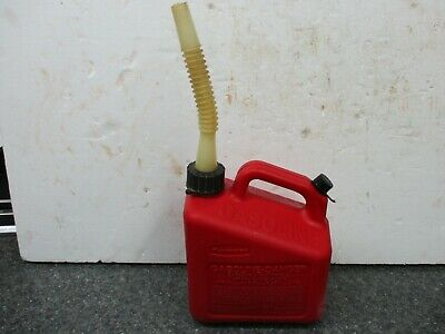 Vintage Rubbermaid Vented 1 Gallon Pre Ban Gas Can Clean With Spout
