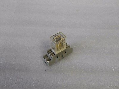 Square D Relay, Class 8501, Type RSD42V53, 24 VDC, w/Base, Used, Warranty