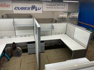 Herman Miller Canvas 6x5.5 Cubicles W 54 Or 68 Tall Panels