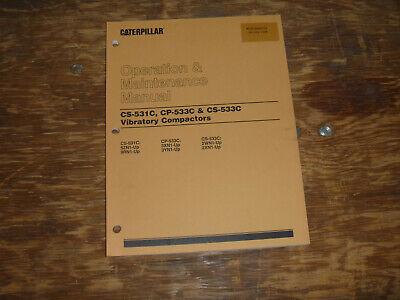 Cat Caterpillar Cs-533c Vibratory Compactor Operator Maintenance Manual 2wn1-