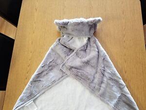 NWT Pottery Barn Kids elephant Plush kids bath wrap  towel