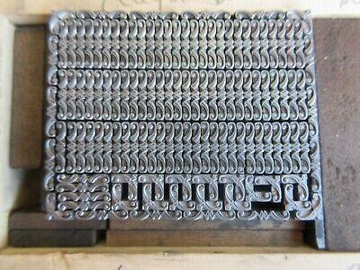 Letterpress Lead Type 6 Pt. Teague Border No. 616  Atf  H12
