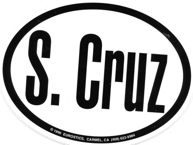 S Cruz Bumper sticker