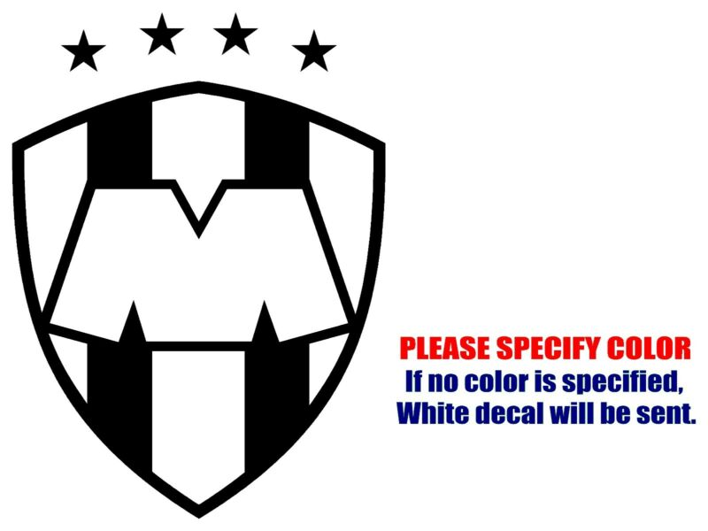 "MONTERREY RAYADOS Mexico soccer football JDM Vinyl Decal Sticker Car Window 7"""