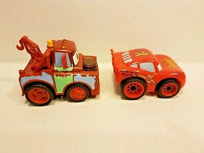 Disney Pixar Cars Lightning McQueen  & Tow Mater Pull-back And Go Cars