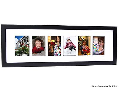 CPF - Multi 6 Opening 10x32 Glass Face Picture Frame Holds 4x6 Photo