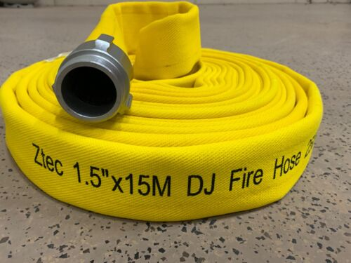 "HEAVY DUTY FIRE HOSE 1.5""X50ft Double Jacket 250PSI NH threads"
