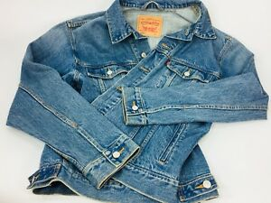 Vintage Levi's denim jean jacket Large Authentic Trucker style