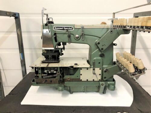 KANSAI DFB-1412P TWELVE NEEDLE W/PULLER 1/4 SPACING  INDUSTRIAL SEWING MACHINE