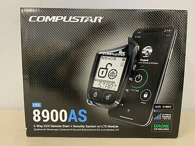 Compustar CSX8900-AS CS 2-Way LCD 1-Mile Alarm/Starter Includes Drone Brand NEW