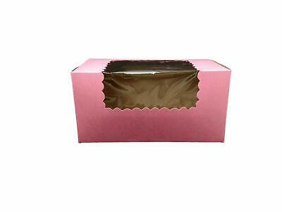 Pink Pastry Bakery Box 8 X 4 X 4 With A Window By Mt Products- 15 Pieces