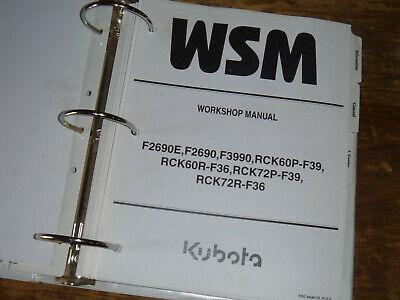 Kubota Rck72p-f39 Rck72r-f36 Mower Deck Shop Service Repair Manual