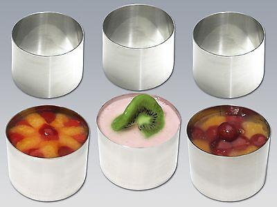 Dessert-ring ( CHG Dessertring  Speisering  Edelstahl 6 Stück)