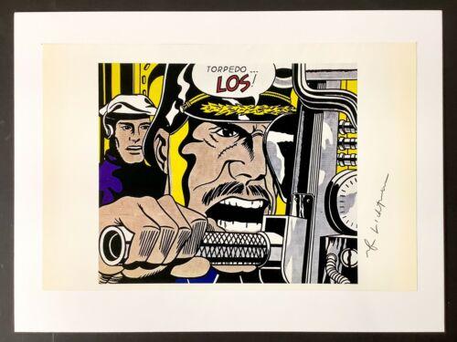 Hand signed Signature - ROY LICHTENSTEIN - Pop Art - Vintage Multi-Colored Print