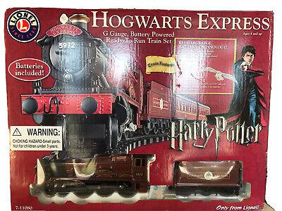 2008 Lionel Harry Potter Hogwarts Express G-Gauge Train Set 7-11080 New In Box
