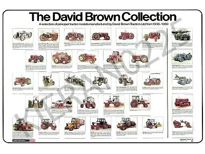 The David Brown Collection A3 David Brown Case Tractor Poster Brochure Tractor