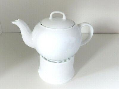ORION Kanne Porzellankanne mit Griff 1,1 L Kaffeekanne Teekanne Weiß