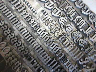 Letterpress Lead Type 36 Pt. Flemish Black Atf 157 A29