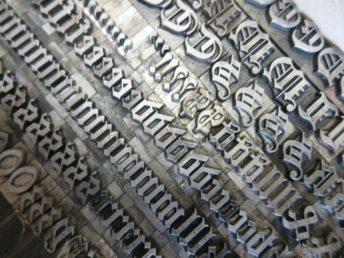 Letterpress Lead Type 36 Pt. Flemish Black ATF # 157     a29