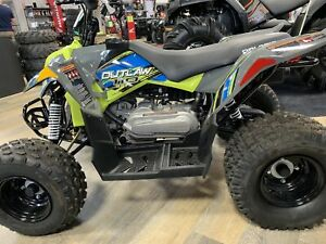 2019 Polaris Industries Outlaw® 110 - Avalanche Gray/Lime Squeez