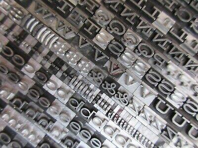 Letterpress Lead Type 18 Pt. Hellenic Wide - Bauer Type Foundry  B42