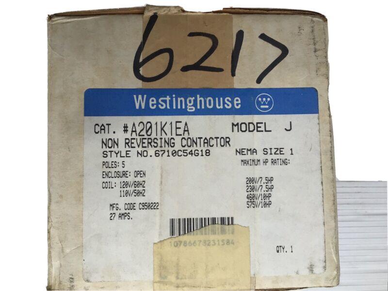 Westinghouse Non Reversing  Contactor A201K1EA