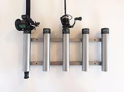 - Aluminum Rod Storage Holder 5 with protective end caps. High Seas Gear Rod Racks