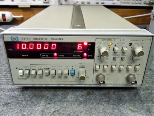 HP 5316A 100 MHz Dual Channel Universal Counter (Aligned & Working)