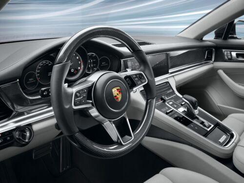 Porsche Panamera 2017 18  New Multi Function Carbon Fiber Blk L Steering Wheel