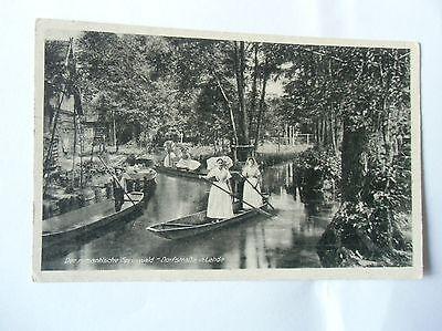 Ansichtskarte Der romantische Spreewald Dorfstraße in Lehde 30er??