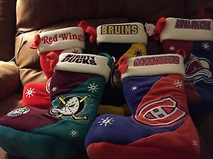 Five NHL stockings