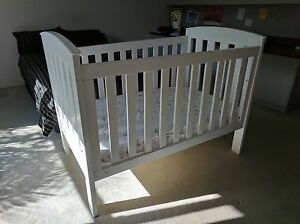 White Tasman Eco Siena cot + mattress -  used twice Bridgeman Downs Brisbane North East Preview