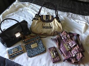 Assorted purses and wallets - most GUESS