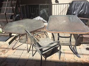Out door tables and chairs