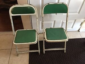 Vintage Child's folding metal chairs