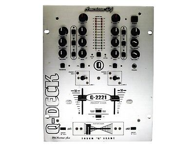 American Dj Dj Mixer (AMERICAN DJ Q-2221 MIXER CONTROL HAMSTER SW FX 3 BAND EQ ROTARY KILLS FADERS +FP )