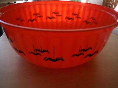 Pumpkin Plastic Bowl - NEW Halloween Plastic Treats Bowl TRICK OR TREAT - Pumpkin Hollow 11.5
