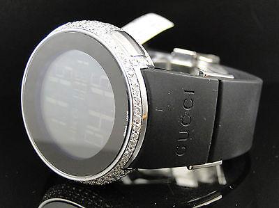 Brand New Mens 5 Row I Gucci Digital White Diamond Watch 6 Ct YA114202