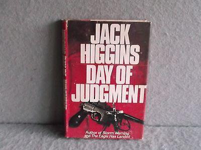 DAY OF JUDGMENT JACK HIGGINS 1979 Espionage Thriller Drama Book Club Edition