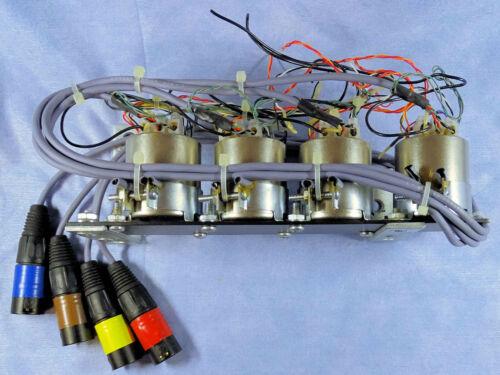 FOUR Bar-Mounted Jensen JT-11SSP-6M Line Input Isolation Transformers w/ Tails