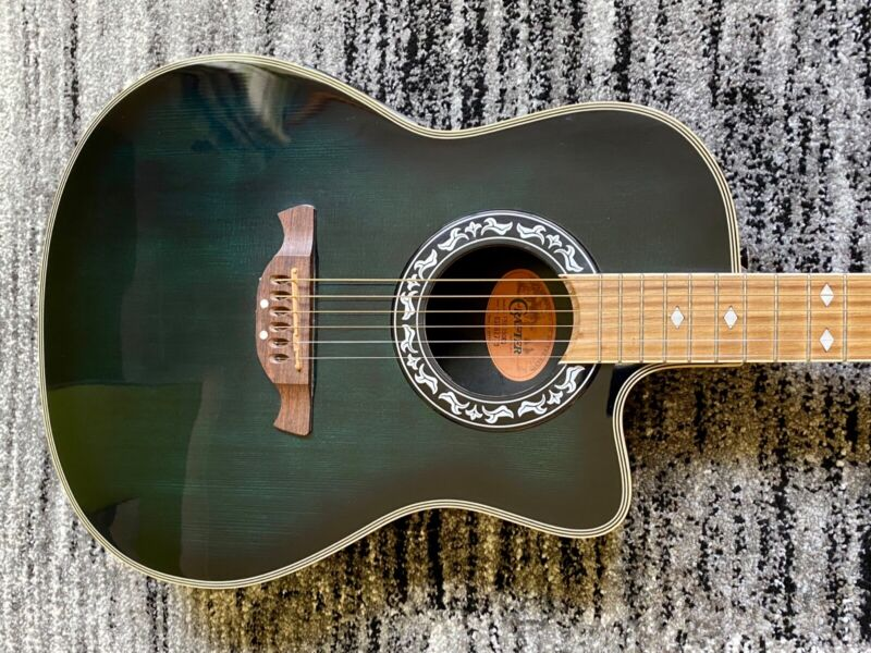 Crafter FSG-250EQ Acoustic Guitar Dark Blue Excellent Condition USED