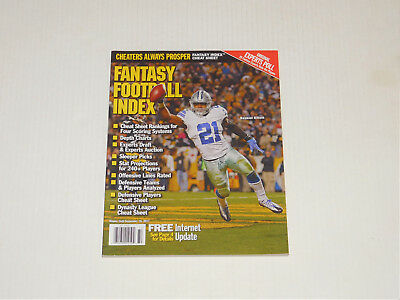Fantasy Football Index Magazine 2017 Draft Guide Ezekiel Elliott Dallas Cowboys